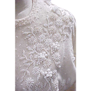 06 - Vintage Beaded Sweater - Made in Hong Kong