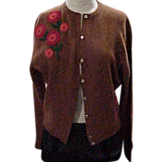 Evan-Picone Lambswool & Angora Vintage Sweater - X-S