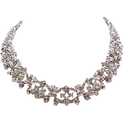 Lovely Napier Rhinestone Necklace - Evening Wear and Bridal