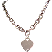 Huge Sterling Silver Necklace with Heart Charm (Removeable)