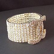 Rhinestone Coco Chanel CC Symbol Expandable Bracelet