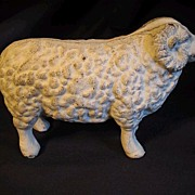 Vintage Cast Iron Toy Ram - Sheep