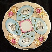 Hand Painted Oyster Plate Swans
