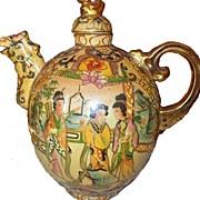 Large Satsuma China Teapot