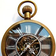 Man's Skeleton Mechanical Pocket Watch