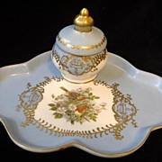 RS Prussia Tray and Ink Pot