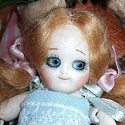 "Tiny 4 1/2"" Googly Doll"