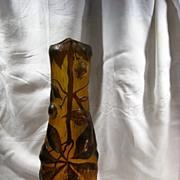 Galle Tip Amber Glass Vase
