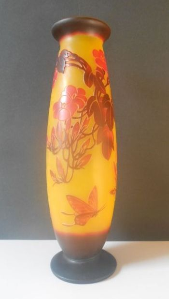 Galle Cameo Glass Vase From Rlreproshop On Ruby Lane