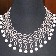 Almost Trifari - Fishnet Necklace