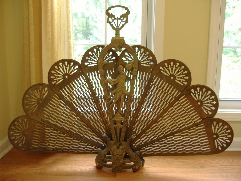 Expanding Fan Brass Fireplace Screen From Rlreproshop On