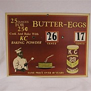 Paper KC Baking Powder Advertising Display. Black Americana