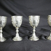Fancy Silverplated Cordial Goblets