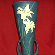 Roseville Blue Zephyr Lilly Vase