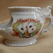 Antique 'Lucky Spots' Shaving Mug marked Brandenburg