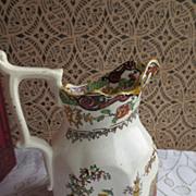 Porcelain Pitcher Asian hand painted design