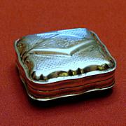 Sterling Silver Trinket Box with Hallmarks