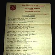 Hitler's Lament : A Poem Written for Hitler circa 1940's