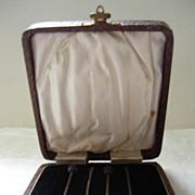 Marson & Jones Hallmarked Silver Utensils Boxed  c.1902
