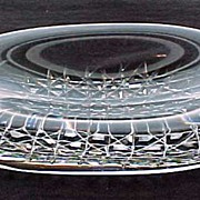 Orrefors Crystal Signed Solid Glass Chunk Oval Paperweight Dish