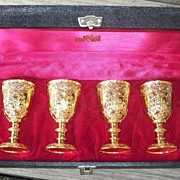 Small golden Goblets
