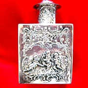 Silver Repousse Tobacco ~ Tea ~ Snuff Jar