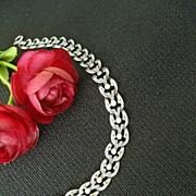 Clever Sterling Link Bracelet - Hallmark Unknown