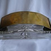 Interesting crystal & brass & silver 800 whatchamecallit