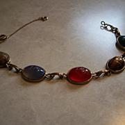 Vintage five gem stone bracelet.