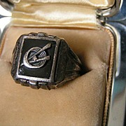 Sterling Silver Vintage Scout Ring???