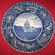 Washington D.C. Capitol building flow blue Staffordshire plate???????