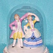 Miniature Germany Pair Figurine mrkd