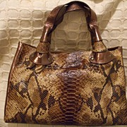 Made In Italy For Bloomingdales Alligator, Snakeskin Purse