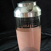 Retro Greek Key Cocktail Shaker