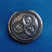 Victorian Silver Plated Medallion Coin Purse
