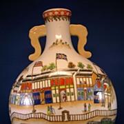Oriental vase Chinese or Japanese scene large ceramic