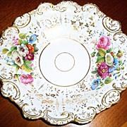 Ornate Antique Hand Painted Porcelain Bowl Unidentified Mark