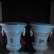 Vintage Baby Blue Vases (2) Princeton China