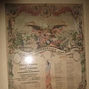 Civil War Roll Call Record Litchfield CT 19th Regiment