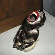 Unusual Black Memorabilia Pot Metal Piece