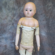 Antique Wax doll with working  crier