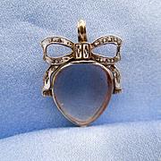 Crystal Heart, French Motto, Georgian