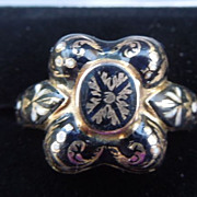 Memorial Jewelry, Mourning Jewelry, Ring, Poison or Locket Ring, Georgian