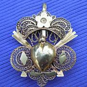 18 Carat, Heart Pendant, Locket, French, Georgian