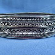 Silver (Sterling) Bangle Bracelet, Victorian