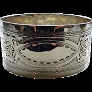 SOLD Sterling Silver Napkin Ring, Edwardian