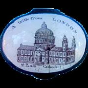 Billston or  Battersea Enamel Box, Georgian, London Souvenir