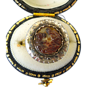 17th Century Cameo, Agate, 18th Century diamonds, in ring