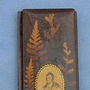 Fernware Needle Case,Victorian, Robert Burns