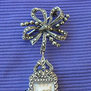 Watch Pendant/Silver/Art Deco